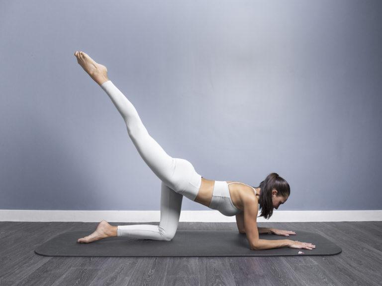 Monika doing shapes pilates