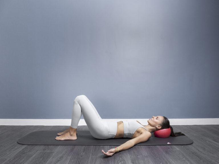 Monika doing Relax Pilates pose