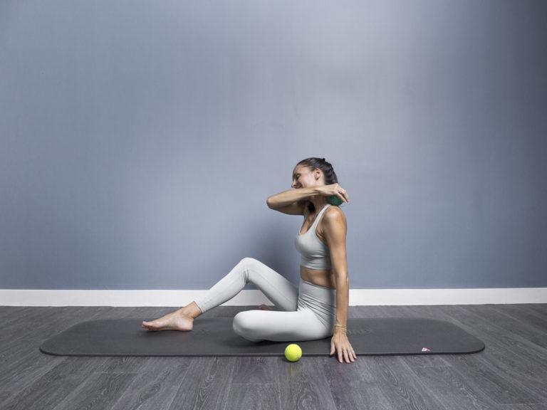 Monika doing Release pilates